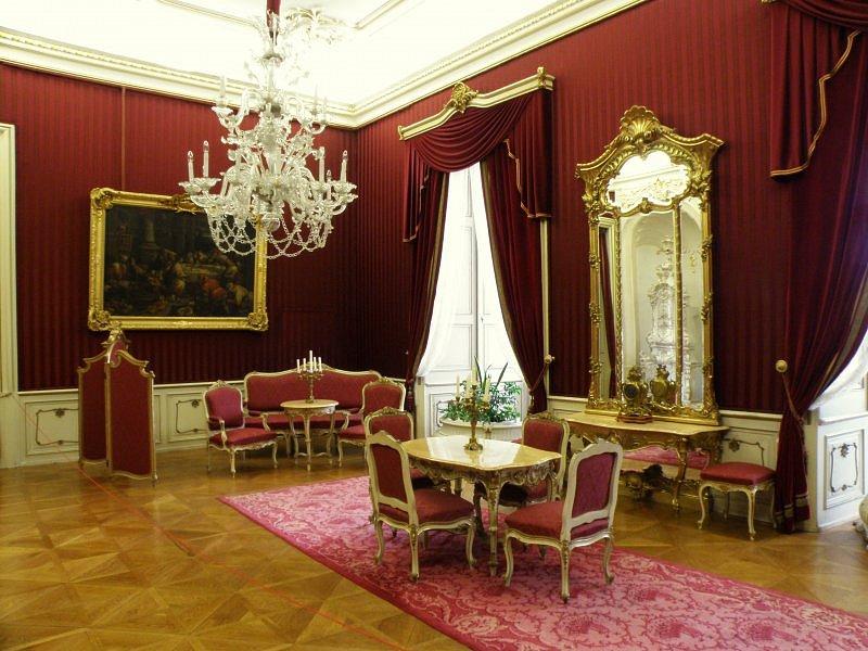 Růžový salon - Arcibiskupský zámek Kroměříž