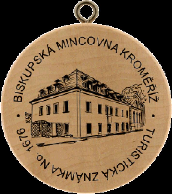 Turistická známka - Biskupská mincovna Kroměříž