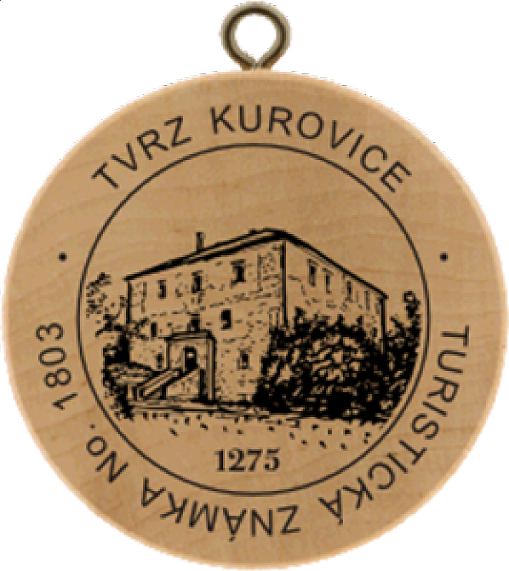 Turistická známka - Tvrz Kurovice