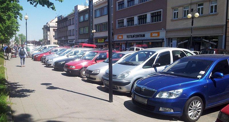 Placené venkovní parkování v Kroměříži