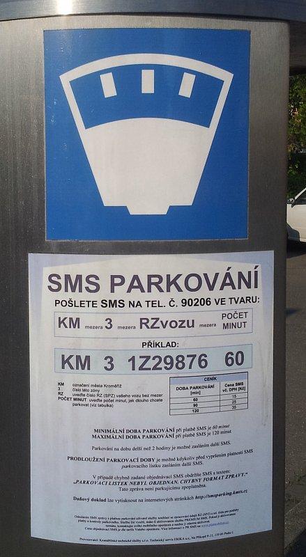 SMS parkování v Kroměříži